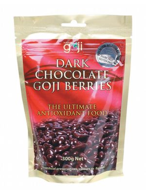 NATURALLY GOJI Dark Choc Goji Berries 300g