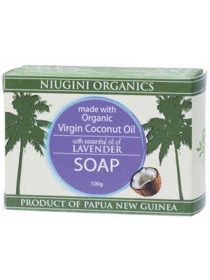NIUGINI ORGANICS Lavender Coco. Oil Soap 100g