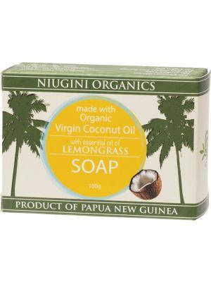 NIUGINI ORGANICS L/grass Coco. Oil Soap 100g