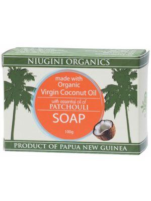 NIUGINI ORGANICS Patchouli Coco. Oil Soap 100g
