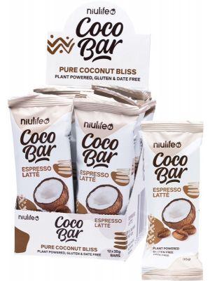 NIULIFE Coco Bar Espresso Latte 12x35g