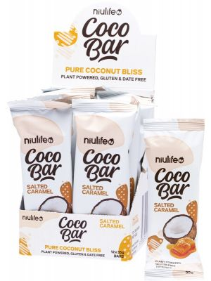 NIULIFE Coco Bar Salted Caramel 12x35g