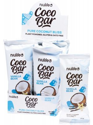 NIULIFE Coco Bar Vanilla Bean 12x35g
