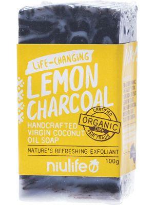 NIULIFE Coconut Oil Soap Lemon - Charcoal 100g