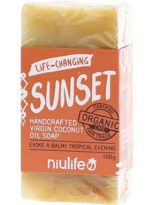 NIULIFE Coconut Oil Soap Sunset - Turmeric 100g