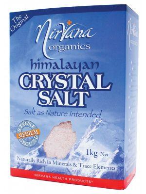 Nirvana Organics Medium Himalayan Salt 1kg