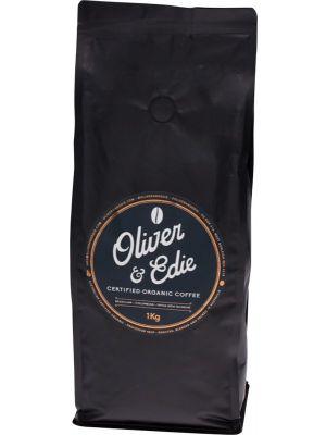 OLIVER & EDIE Coffee Beans Certified Organic 1kg