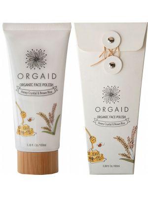 ORGAID Organic Face Polish Honey Crystal & Brown Rice 100ml