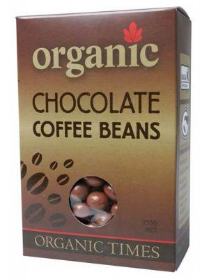 Organic Times Milk Choc Coffee Beans 150g