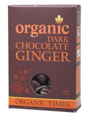 ORGANIC TIMES Dark Choc Ginger 150g