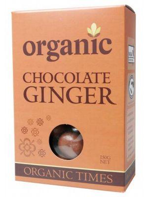 Organic Times Milk Choc Ginger 150g