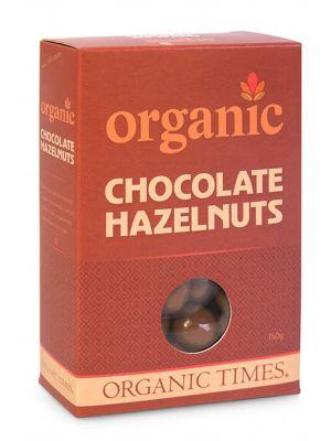 ORGANIC TIMES Milk Choc Hazelnuts 150g