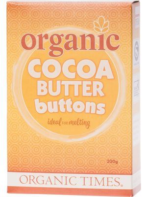 ORGANIC TIMES Cocoa Butter Buttons 300g