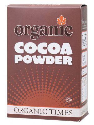 ORGANIC TIMES Cocoa Powder 200g