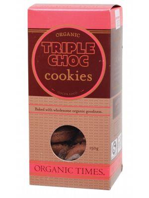 ORGANIC TIMES Triple Chocolate Cookies 150g