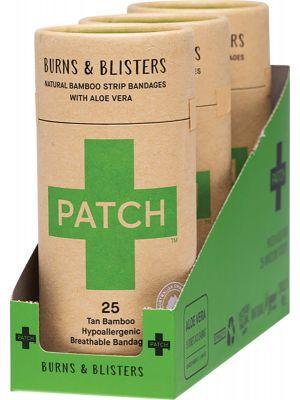 PATCH Adhesive Bamboo Bandages Aloe Vera - Burns & Blisters 3x25