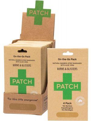 PATCH Adhesive Bamboo Bandages Aloe Vera - Burns & Blisters 50x4