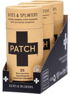 PATCH Adhesive Bamboo Bandages Charcoal - Bites & Splinters 3x25