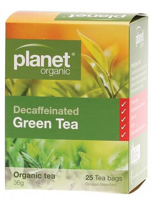 PLANET ORGANIC Herbal Tea Bags Decaffeinated Green Tea 25 bags