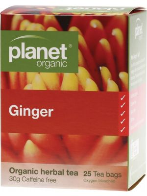 Planet Organic Ginger Tea Bags 25 bags