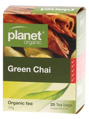 Planet Organic Green Chai Tea Bags 25 bags