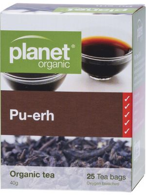 PLANET ORGANIC Herbal Tea Bags Pu-erh 25