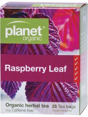 PLANET ORGANIC Herbal Tea Bags Raspberry Leaf 25