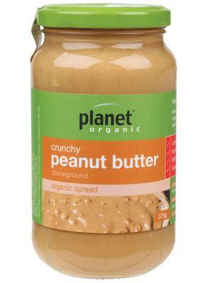 Planet Organic Crunchy Peanut Butter 375g