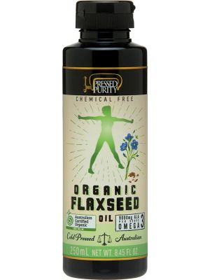 PRESSED PURITY Organic Flaxseed Oil Cold Pressed 250ml