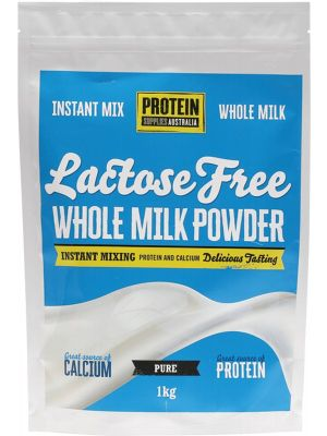 PROTEIN SUPPLIES AUST Whole Milk Powder Lactose Free 1kg