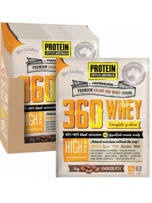 PROTEIN SUPPLIES AUST. 360 Whey Chocolate Sachets 12x30g