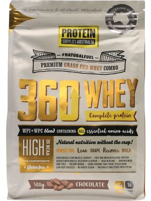 PROTEIN SUPPLIES AUST. 360 Whey Chocolate 500g