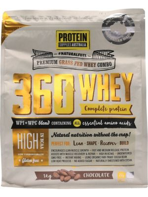 PROTEIN SUPPLIES AUST. 360 Whey Chocolate 1kg