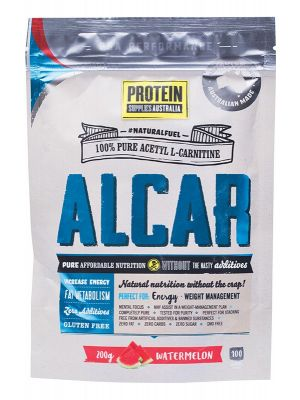 PROTEIN SUPPLIES AUST. Alcar (Acetyl L-Carnitine) Watermelon 200g