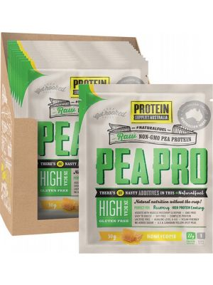 PROTEIN SUPPLIES AUST. PeaPro (Raw Pea Protein) Honeycomb 12x30g