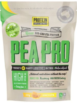 PROTEIN SUPPLIES AUST. PeaPro (Raw Pea Protein) Honeycomb 500g