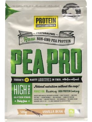 PROTEIN SUPPLIES AUST. Van. Pea Protein Isolate 500g