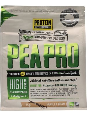 PROTEIN SUPPLIES AUST. Van. Pea Protein Isolate 1kg