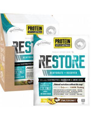 PROTEIN SUPPLIES AUST. Restore Pine Coconut Sachets 16x10g
