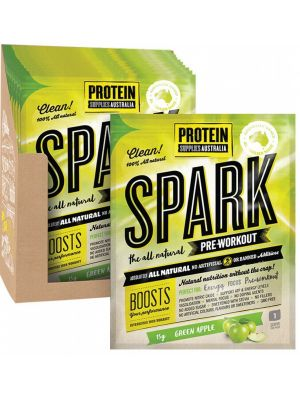 PROTEIN SUPPLIES AUST. Spark Green Apple Sachets 16x15g