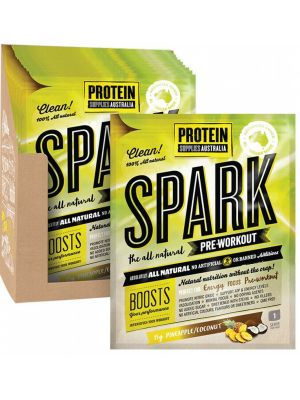 PROTEIN SUPPLIES AUST. Spark (All Natural Pre-workout) Pine Coconut 16x15g