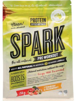 PROTEIN SUPPLIES AUST. Spark Pre-wrk Strawb Passion 250g