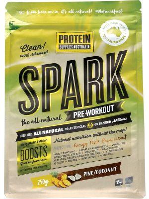 PROTEIN SUPPLIES AUST. Spark Pre-wrk Pine Coconut 250g