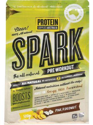 PROTEIN SUPPLIES AUST. Spark Pre-wrk Pine Coconut 500g