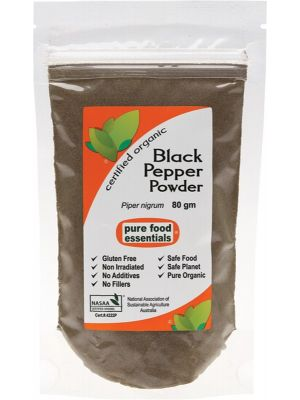 PURE FOOD ESSENTIALS Black Pepper Powder 80g