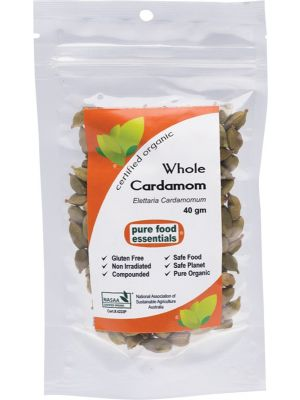 PURE FOOD ESSENTIALS Spices Cardamom Whole 40g