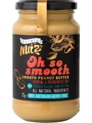 PURELY NUTZ Peanut Butter Smooth 375g