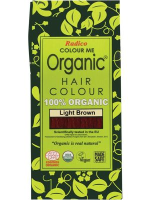 RADICO Colour Me Organic - Hair Colour Powder - Light Brown 100g