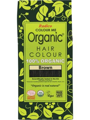 RADICO Colour Me Organic - Hair Colour Powder - Brown 100g