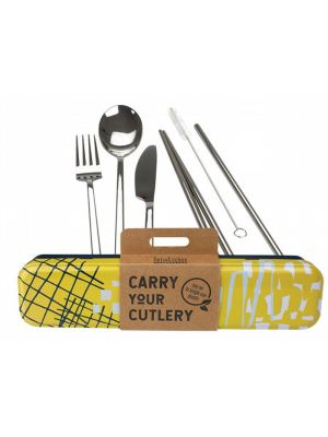 RETROKITCHEN Carry Your Cutlery - Abstract Stainless Steel Cutlery Set 1